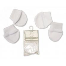 Sheldon Premature Baby Scratch Mittens Packs of 2 Pairs-White