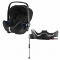 Britax Baby Safe 2 i-Size Car Seat and i-Size Flex Base-Cosmos Black (New)