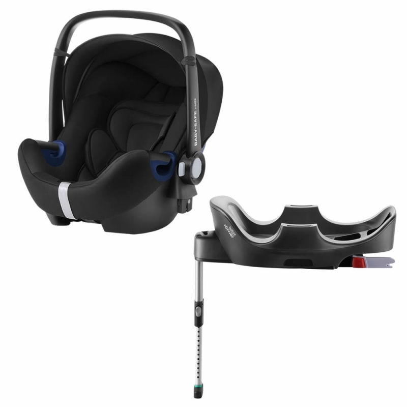Britax Baby Safe 2 i-Size Car Sat and i-Size Flex Base-Cosmos Black (New)