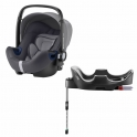 Britax Baby Safe 2 i-Size Car Seat and i-Size Flex Base-Storm Grey (New)