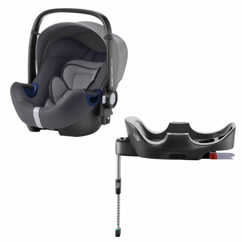 Britax Baby Safe 2 i-Size Car Sat and i-Size Flex Base-Storm Grey (New)