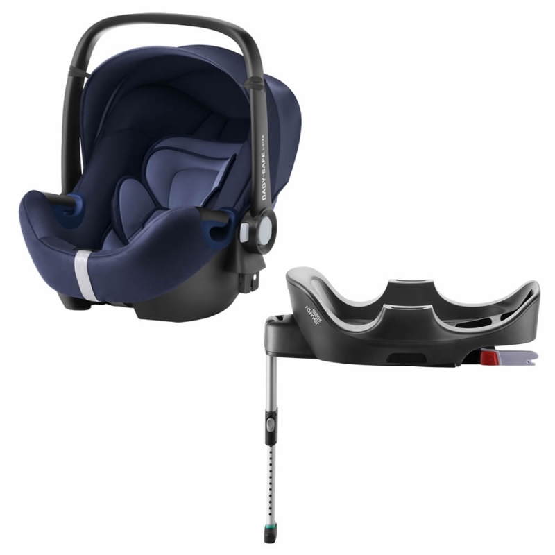 Britax Baby Safe 2 i-Size Car Sat and i-Size Flex Base-Moonlight Blue (New)