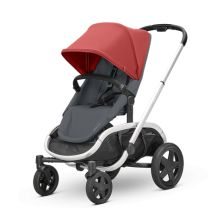Quinny Hubb Silver Frame Shopping Stroller-Red/Graphite