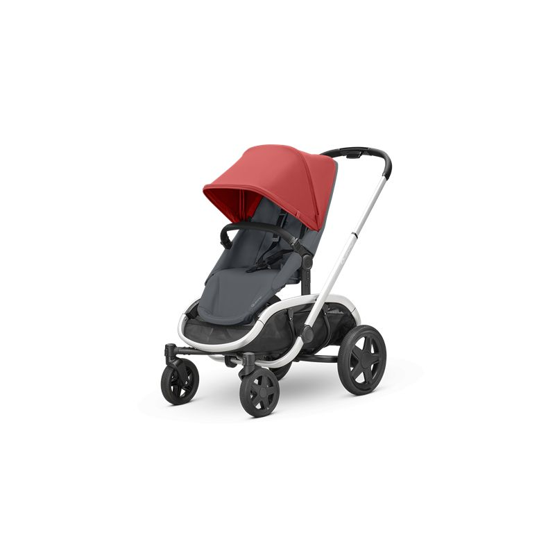 Quinny Hubb Silver Frame XXL Shopping Stroller-Red/Graphite