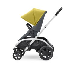 Quinny Hubb Silver Frame Shopping Stroller-Ochre/Graphite