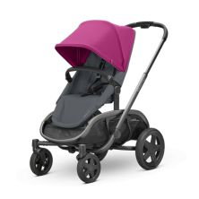 Quinny Hubb Graphite Frame XXL Shopping Stroller-Pink/Graphite