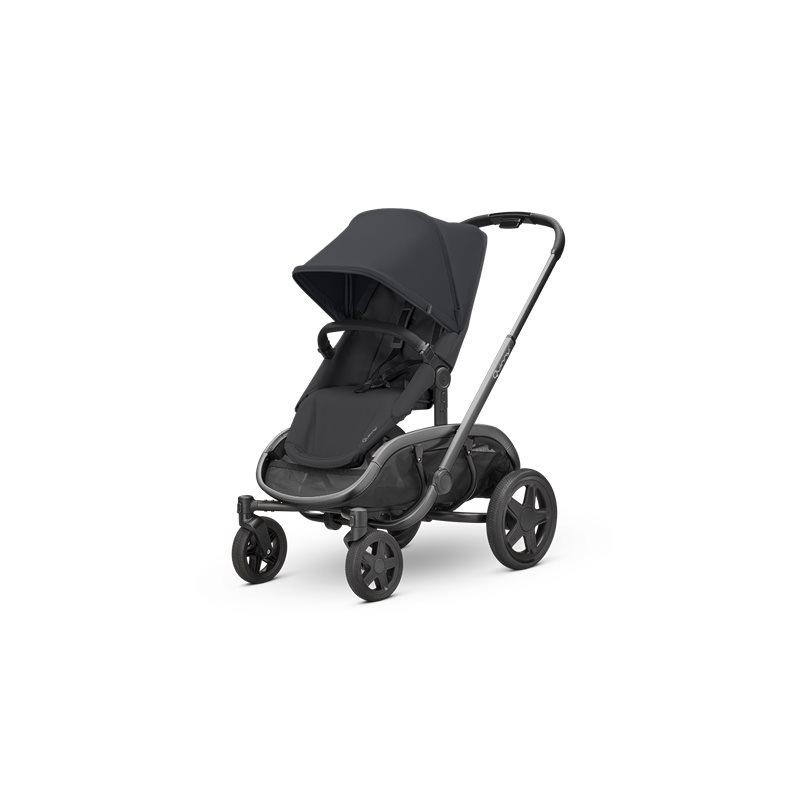 Quinny Hubb Graphite Frame XXL Shopping Stroller-Black/Black