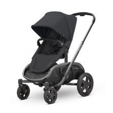 Quinny Hubb Graphite Frame Shopping Stroller-Black/Black