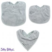 SillyBillyz Towel Bib Bundle-Silver
