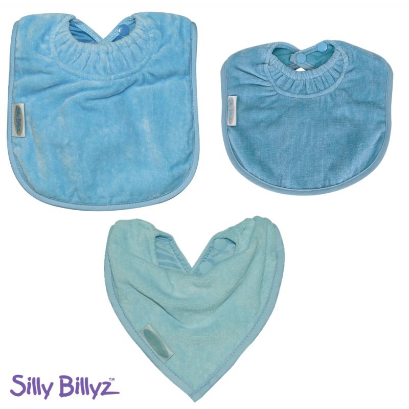 SillyBillyz Towel Bib Bundle-Sky Blue