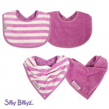 SillyBillyz Organic Biblet Bundle-Plum