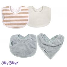 SillyBillyz Biblet Bundle-Milk/Silver