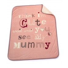 Bizzi Growin Baby Comfort Blanket-Cute As Mummy