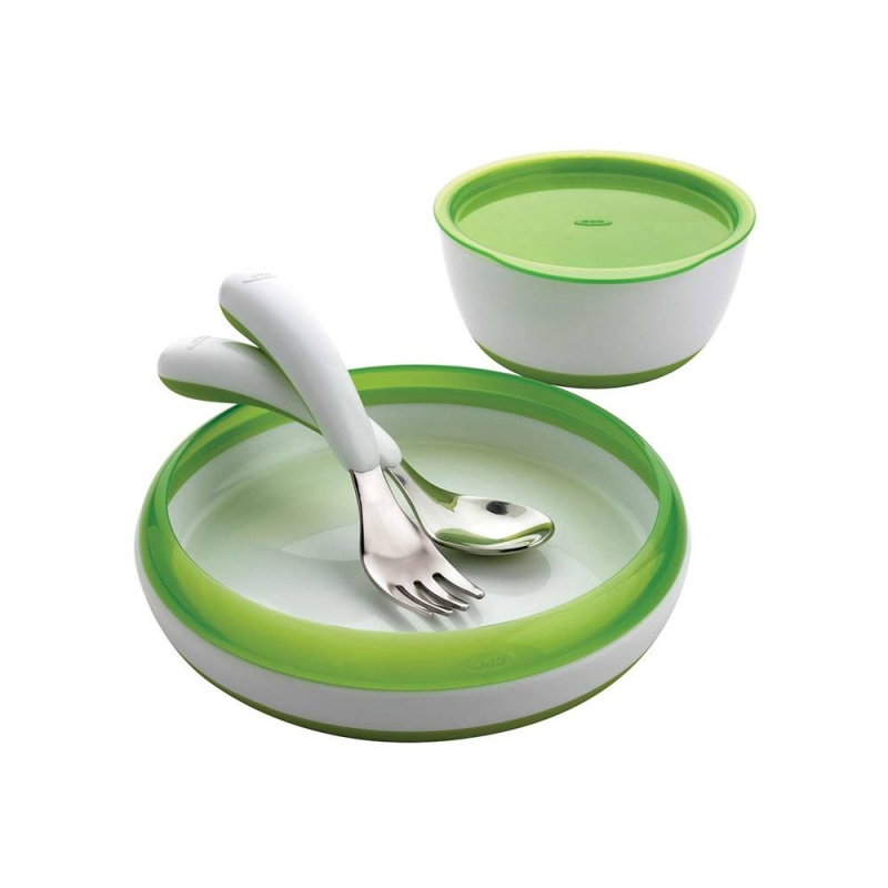 Oxo Tot 4 Piece Toddler Feeding Set-Green