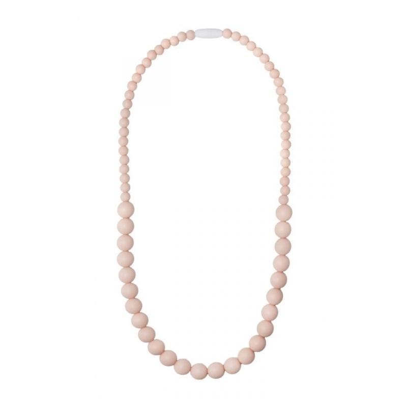 Nibbling Kew Teething Necklace-Peach