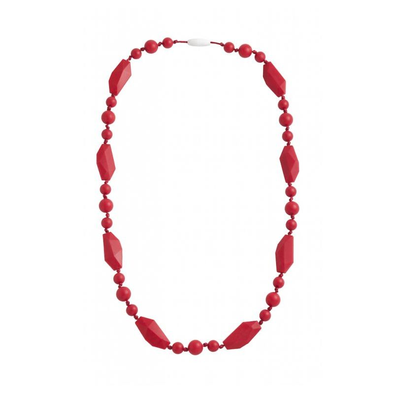 Nibbling Greenwich Teething Necklace-Red