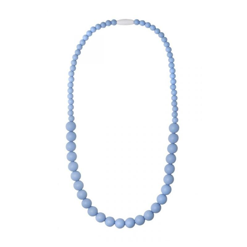 Nibbling Kew Teething Necklace-Soft Blue