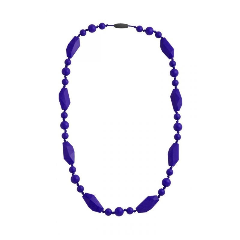Nibbling Greenwich Teething Necklace-Navy