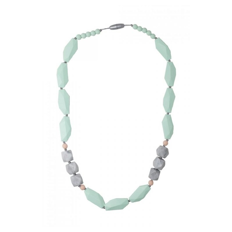 Nibbling Brighton Teething Necklace-Mint/Marble