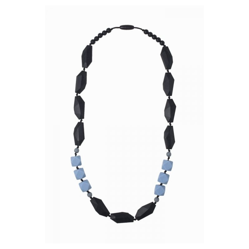 Nibbling Brighton Teething Necklace-Black/Blue