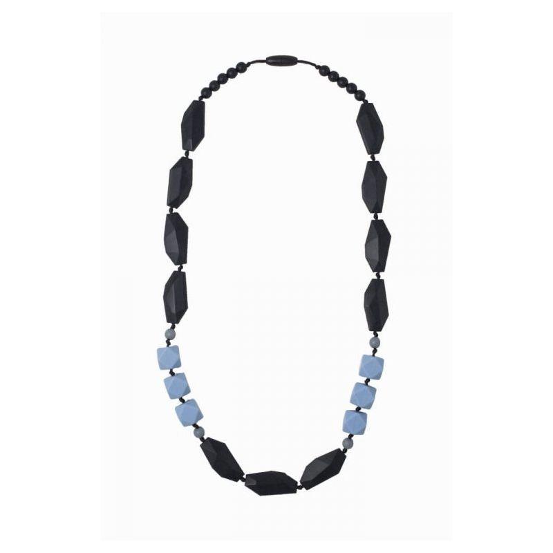 Nibbling Brighton Teething Necklace Black/Blue