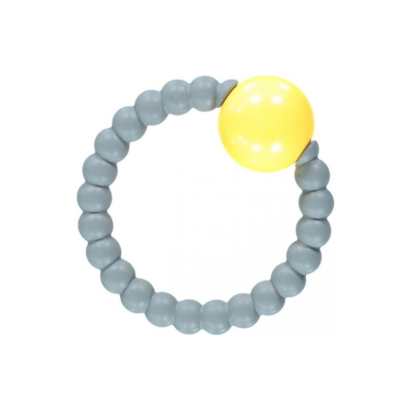 Nibbling Rattle Ring-Grey/Yellow