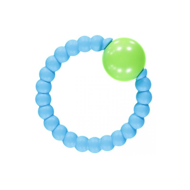 Nibbling Rattle Ring-Blue/Lime