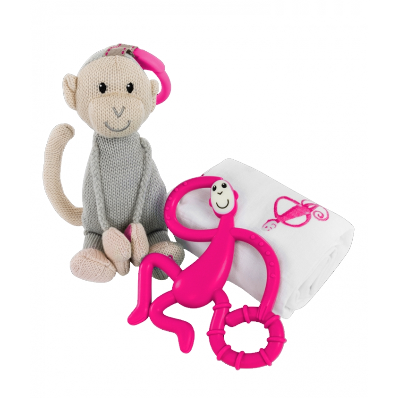 Matchstick Monkey Gift Set-Pink