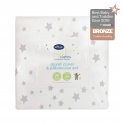 Safe Night by Silentnight Cot Bed Duvet Cover & Pillow Case-Grey Star