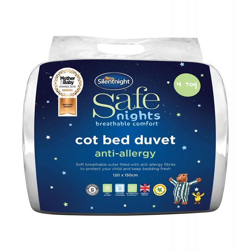 Safe Night by Silentnight 4 Tog Anti Anti-Allergy Cot Bed Duvet
