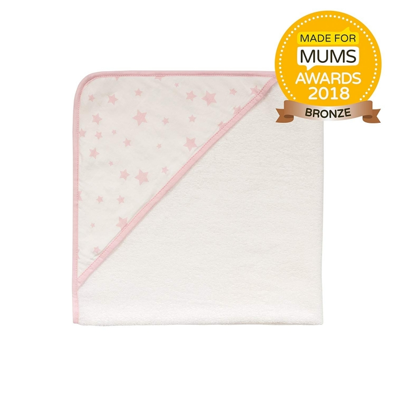 Safe Night by Silentnight Hooded Towel-Pink Star
