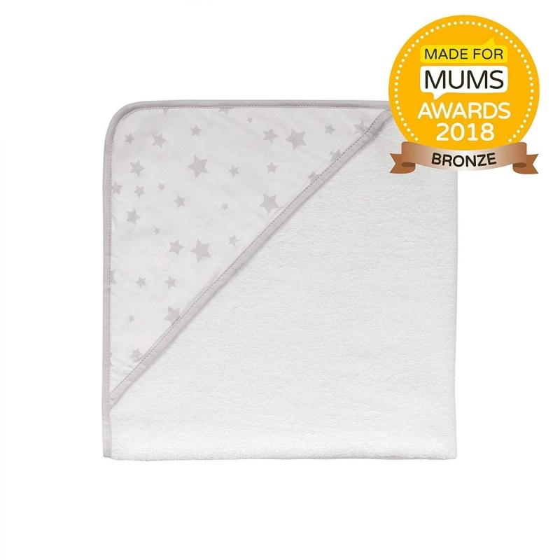 Safe Night by Silentnight Hooded Towel-Grey Star