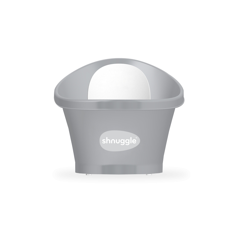 Shnuggle Baby Bath With Foam Back Rest-Slate Grey (New)