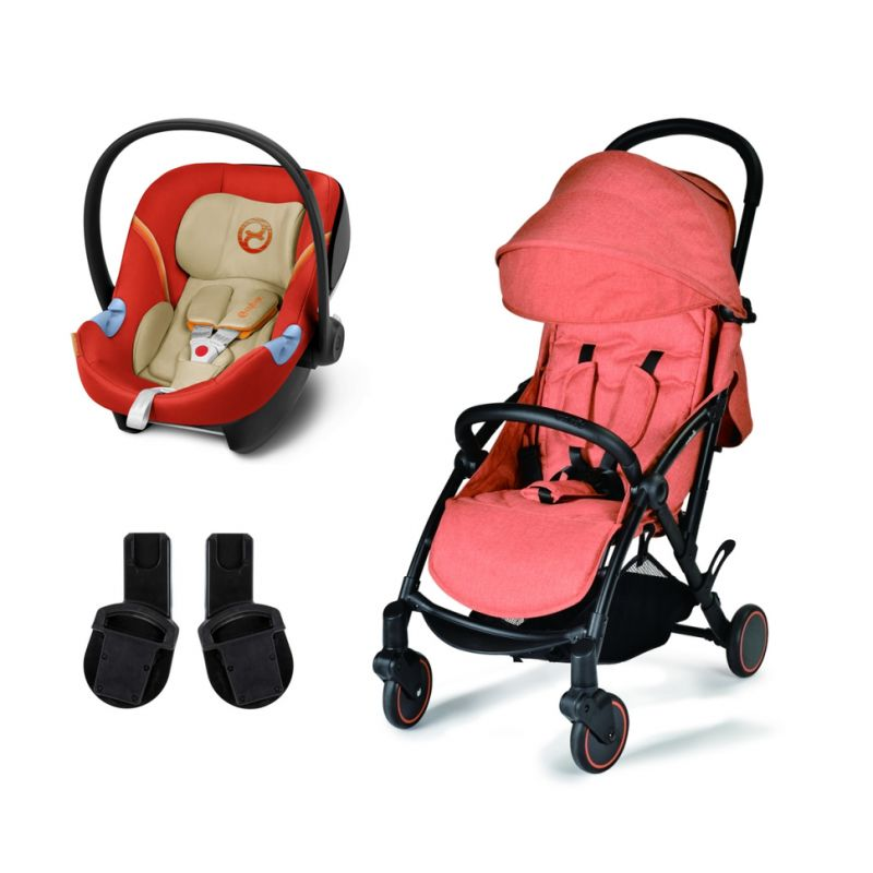 Unilove S Light 2in1 Travel System-Sunny Orange with Aton M Carseat!
