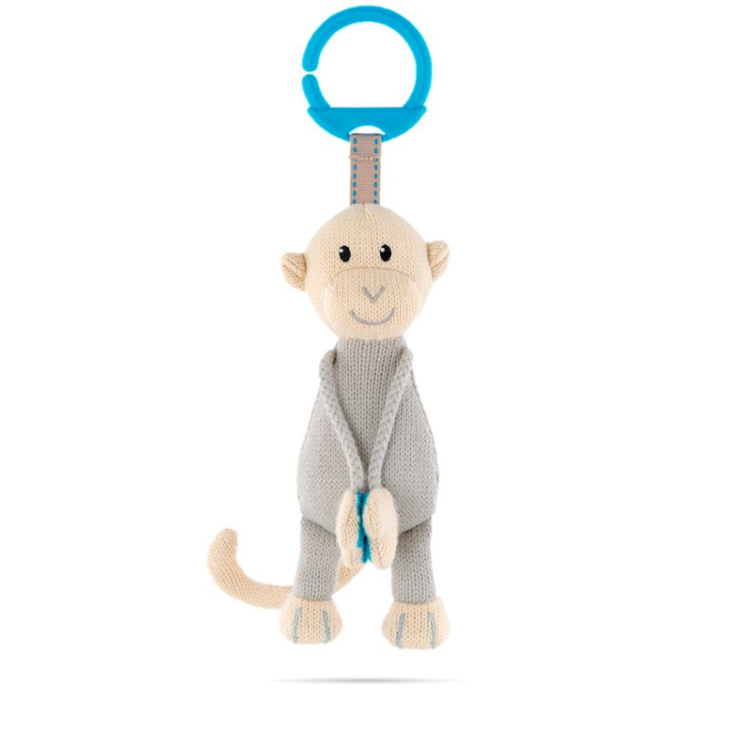Matchstick Monkey Knitted Hanging Toy-Blue