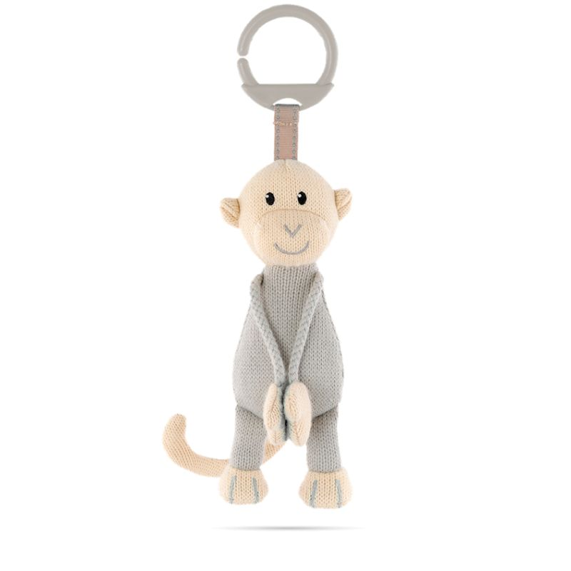 Matchstick Monkey Knitted Hanging Toy Grey