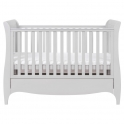 Tutti Bambini Roma Sleigh Cot Bed With Under Bed Drawer-Dove Grey + FREE FOAM MATTRESS!