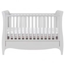 Tutti Bambini Roma Sleigh Cot Bed With Under Bed Drawer-Dove Grey + FREE Tutti Bambini Cotbed Mattress Worth £39.00!