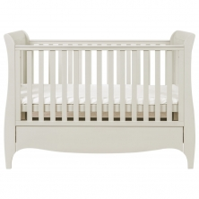 Tutti Bambini Roma Sleigh Cot Bed With Under Bed Drawer-Linen + FREE Tutti Bambini Cotbed Mattress Worth £39.00!