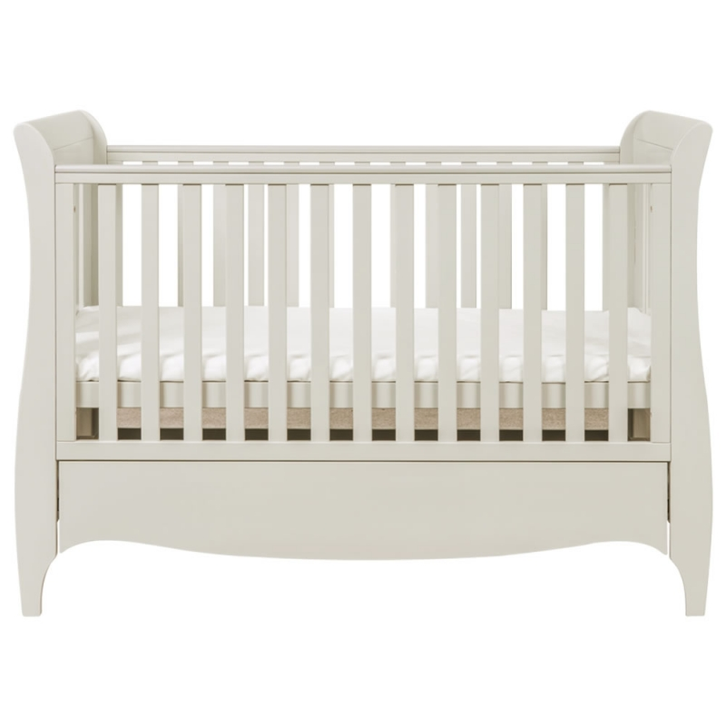 Tutti Bambini Roma Sleigh Cot Bed With Under Bed Drawer-Linen