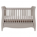 Tutti Bambini Roma Sleigh Cot Bed With Under Bed Drawer-Truffle Grey