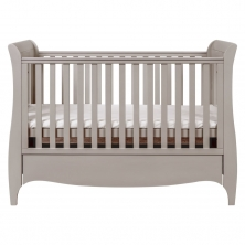 Tutti Bambini Roma Sleigh Cot Bed With Under Bed Drawer-Truffle Grey + FREE Tutti Bambini Cotbed Mattress Worth £39.00!