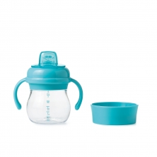 Oxo Tot Soft Spout Sippy Cup Set-Aqua