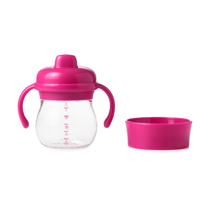 Oxo Tot Hard Spout Sippy Cup Set-Raspberry