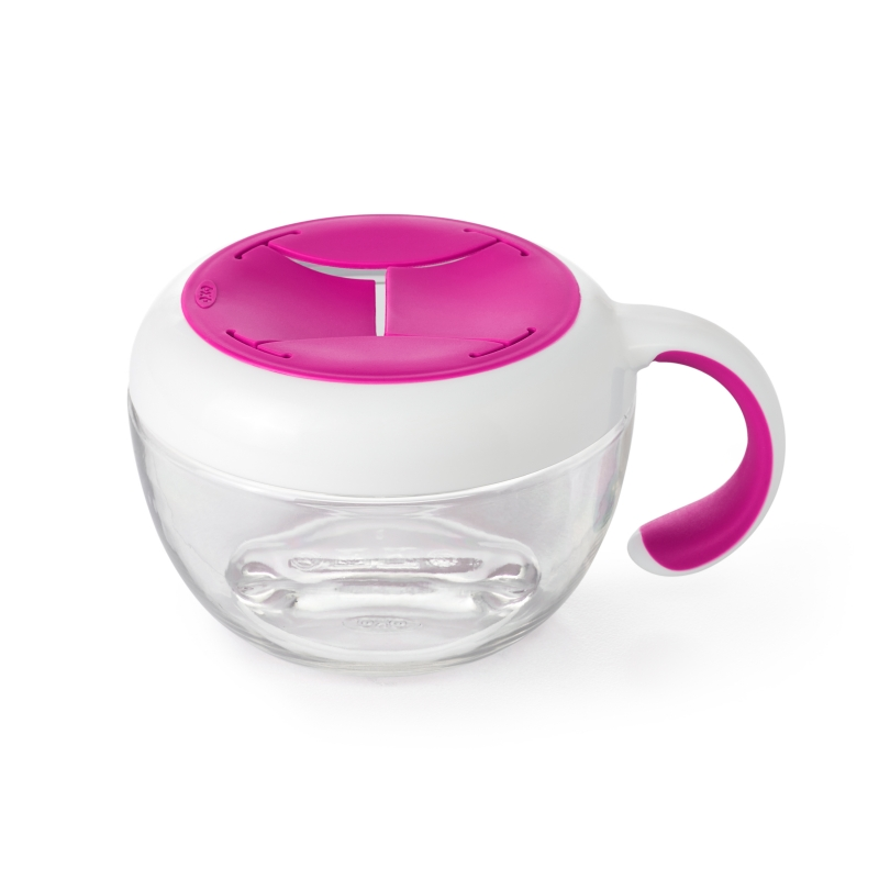 Oxo Tot Flippy Snack Cup-Raspberry
