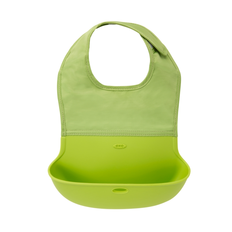 Oxo Tot Roll Up Bib-Green