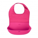 Oxo Tot Roll Up Bib-Raspberry