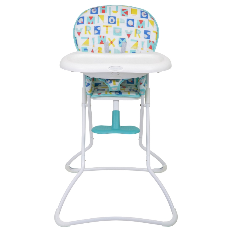 Graco Snack N Stow Highchair-Block Alphabet