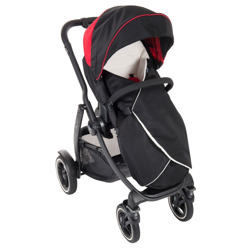 Graco Evo XT Stroller inc Footmuff-Black/Red