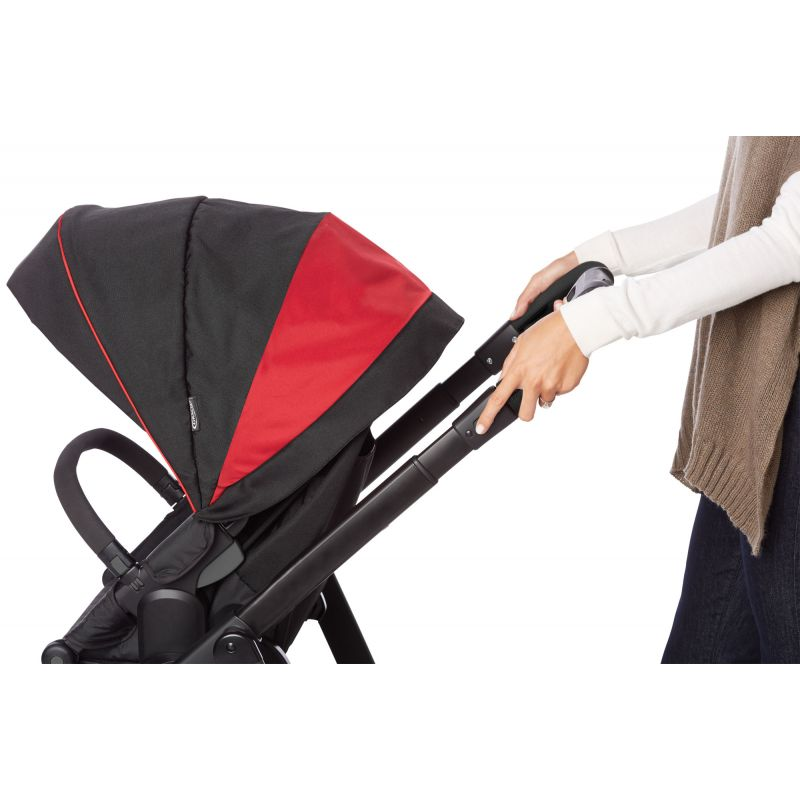 Graco Evo XT Luxury Pushchair Carry Cot Black /& Red